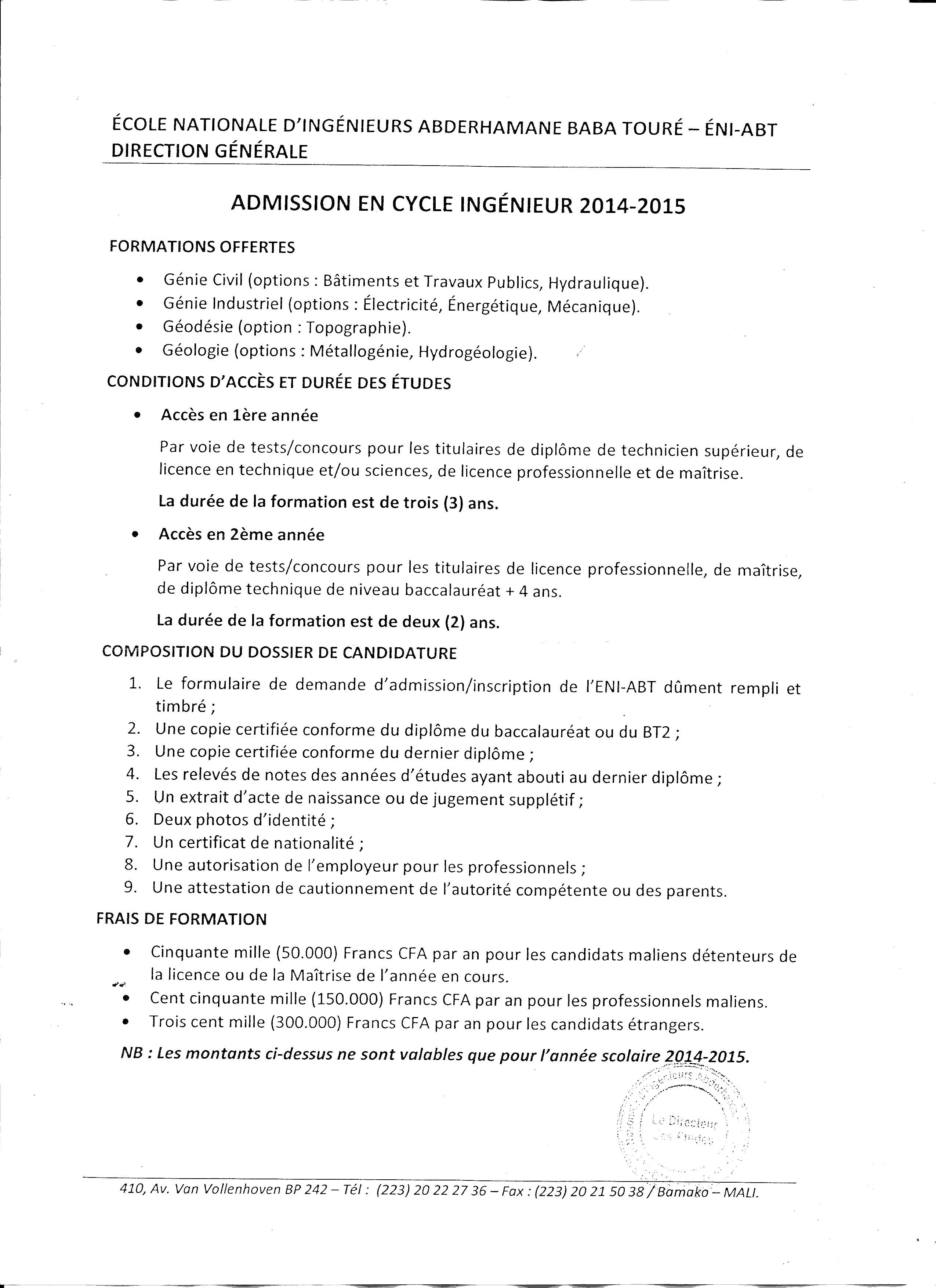 urgent  u2013 avis du concours eni cycle ingenieur
