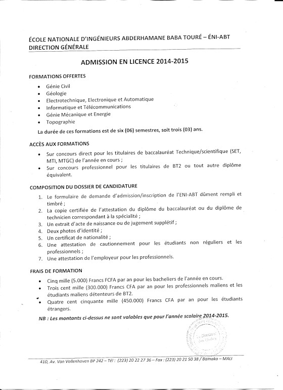 concoursENIcycleLicence
